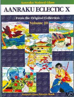 Aanraku Eclectic X, Vol 10, Stained Glass Pattern Book, Elephant, Birds, Eagle
