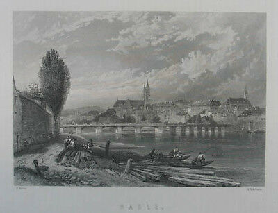Basel Stahlstich 1833