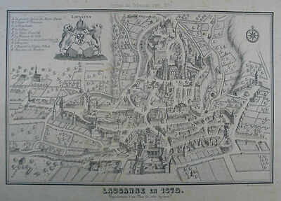 Lausanne Lithographie 1860