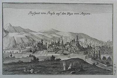 Brussa (Bursa) Kupferstich aus Tournefort 1777