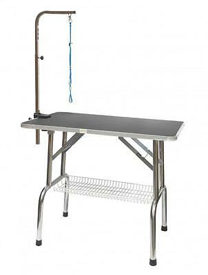 Heavy Duty Stainless steel Pet Dog Grooming Table w/Arm