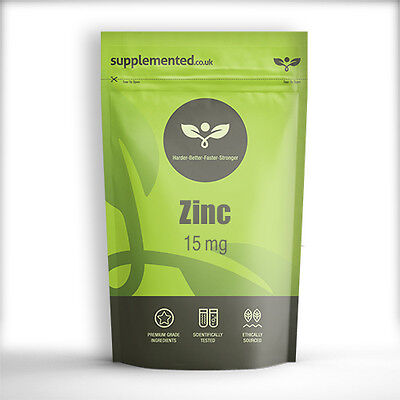 ZINC 15mg 180 TABLETS FREE P&P Mineral Supplement