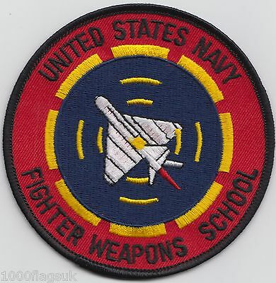 Fighter Weapons School US Navy Embroidered Patch Badge