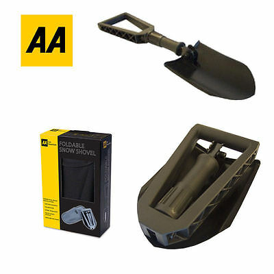 Aa Metal Winter Snow Shovel Compact & Foldable  Spade  -Car Van Travel