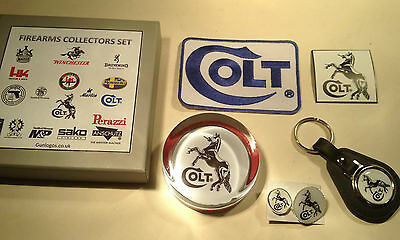 Colt Guns Collectors Sets: Paperweight, Patch, Keyring, Badges, Fridge Magnet