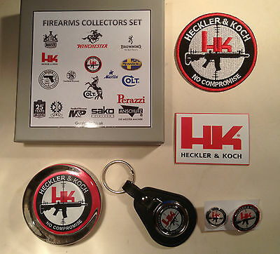 Heckler & Koch Guns Collectors Sets: Paperweight, Patch, Keyring, Badges, Magnet
