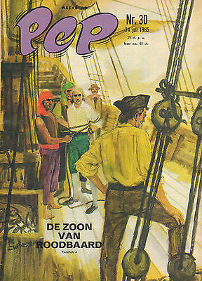 PEP 1965 nr. 30 - ROODBAARD (COVER)/PETER POST/BOERENOORLOG/COMICS