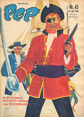 PEP 1965 nr. 43 - ROODBAARD (COVER)/ARENDSOOG/HENK GROOT/FELLOW FIVE/COMICS