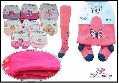 Baby Girls Terry Winter Tights Thick  Leg Warmers 3 months-4 years Patterned
