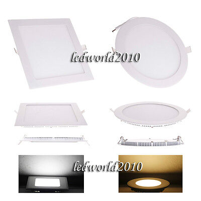 6W/9W/12W/15W/18W/21W Dimmable LED Ceiling Panel Light Recessed Down Lights Bulb