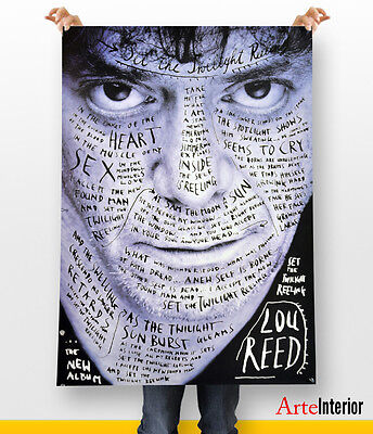 LOU REED by Stefan Sagmeister WALL ART POSTER FINE ART Arredo Design IDEA REGALO