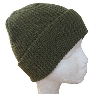 d83f0b1861a Green Winter Watch Cap - Woolly Knitted Thick Hat Beanie Outdoor Military  Army