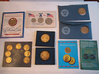 (9) U.s. Coins And Medals Collection Sets - Vintage - Mint Condition -