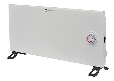 Low Energy Electric Panel Convector Heater Slimline Design Timer Thermostat