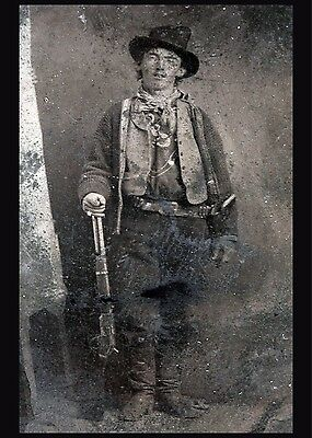3264.Billy The Kid famous picture POSTER.Cowboy.Home Wall Office Room Art decor