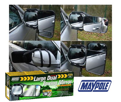 Large Dual Towing Mirror Glass Wing Mirror Extension For Caravan (Eu Approved)