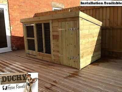 """Dog Kennel And Run - 4'4"""" Tall -  Price From £275"""