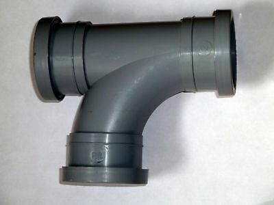 2 Inch (50mm) Push-fit Tee,Compatible With Bartol + Polypipe Plastic Waste Pipe