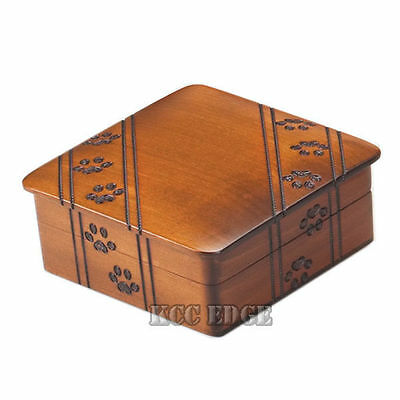 Brand New Walnut Paw Print Cremation Urn for Pets Dog Cat Puppy - Small