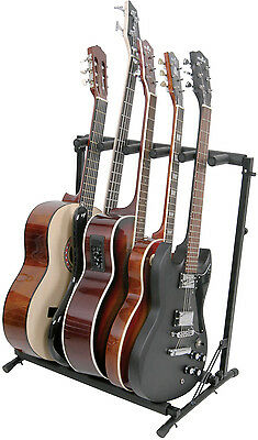 Chord Folding Guitar Rack Stand 3 5 7 way Space Saving Fits All Standard Guitars