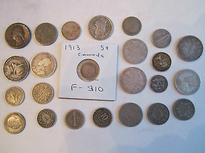 3.35 Oz Of Silver Coins - 90% Silver - World Wide - Unsearched -