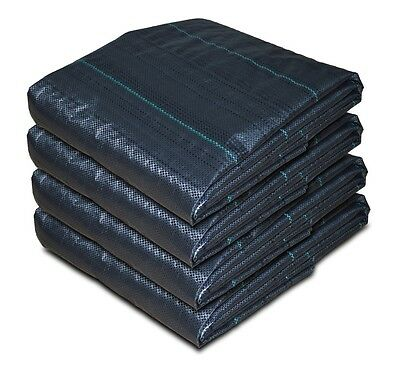 ZEBEL 40m x 2m 100gsm Geotextile Weed Control Ground Cover Fabric Membrane Sheet