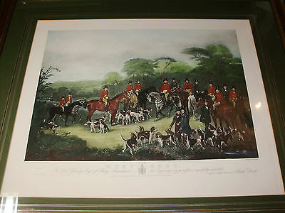 Antique Framed PROOF Print THE BURY HUNT - FOX HUNTING 1840 - C Agar & J Maiden