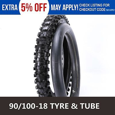90/100-18 18 inch Rear Knobby Tyre Tube Pit/Dirt Bike for Atomik Thumpstar DHZ