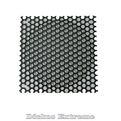120mm Black Mesh Wire Fan Grill / Finger Guard, Hole diameter 6.3mm