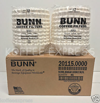 Bunn Commercial Coffee Filter 12 Cup Brewers 1000 Count Free Ship 20115.0000