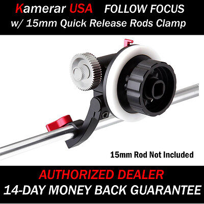 NEW Quick Release Clamp DSLR Follow Focus FF for 15mm rod for RIG,Cage, nikon