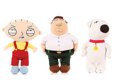 "New Official 15"" Family Guy Plush Soft Toy Brian Stewie And Peter Soft Toys"