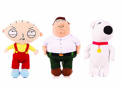 "New Official 7"" 9"" 11"" 15"" Family Guy Soft Toy Plush Stewie Peter Brian Griffin"