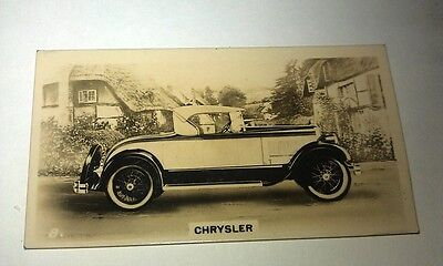 CHRYSLER Roadster  -  Wills New Zealand Real Photo Cigarette Card Issued 1926