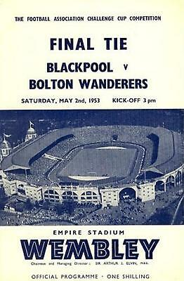 * 1953 FA CUP FINAL PROGRAMME - BLACKPOOL v BOLTON WANDERERS *