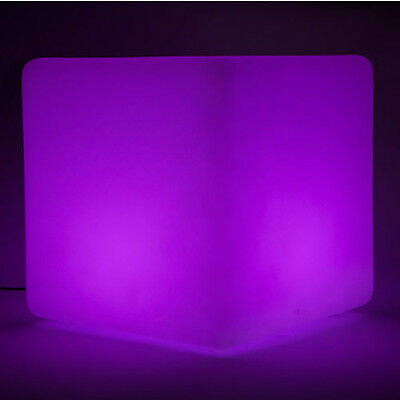 Colour Change Led Light Cube 40cm Flash Strobe Fade Party Mood Glow Lamp