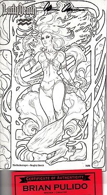 Lady Death The Reckoning SKETCH edition 54/88 signed Pulido COA FREE UK POST NM