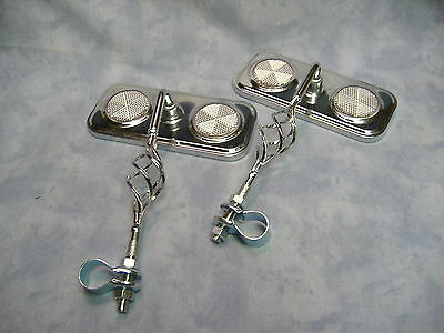 Chrome Rear View Mirrors With Twisted Cage Accent Lowrider  Beach Cruiser Bike