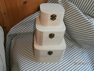 Plain Wooden Boxes for Decoupage or Painting