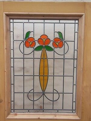 Victorian Edwardian Stained Glass Panels Hand Made Leaded Light Glass Made 129
