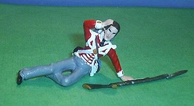 TOY SOLDIERS METAL WAR OF 1812 WOUNDED BRITISH / NAPOLEONIC SOLDIER 54MM