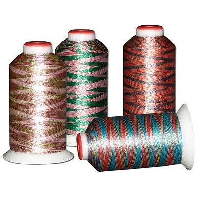 40 Variegated Machine Embroidery Thread 40wt Polyester ThreaDelight 1100 yds