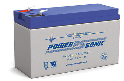 Power Sonic 12V 7AMP RECHARGEABLE SLA BATTERY SEALED LEAD ACID for UPS backup