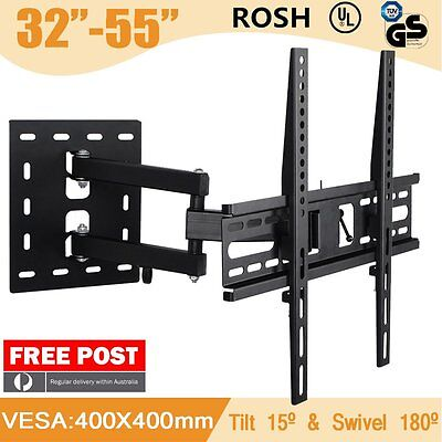 "Tilt & Swivel Cantilever Corner 3D LCD LED Plasma TV Wall Mount Bracket 32""-55"""