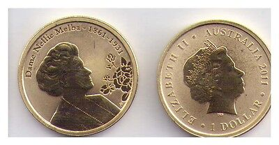 2011 $1 Uncirculated Perth Mint Coin   - Dame Nellie Melba