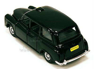 "LONDON BLACK TAXI CAB DIE CAST 7"" L PULLBACK MOTION BUCKINGHAM PALACE HARRODS UK"