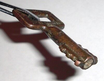 19th c. Bulgarian bronze key with embossed text
