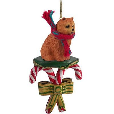 CHOW Red Dog Candy Cane Christmas Tree ORNAMENT