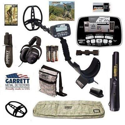Garrett AT Pro Metal Detector with Camo Detector Bag, Pro Pointer II, and More !