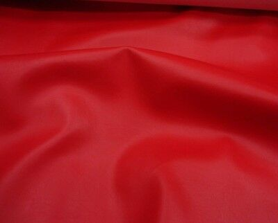 "Marine faux vinyl leather Red Upholstery Auto Boat vinyl fabric  54"" wide ROLLED"